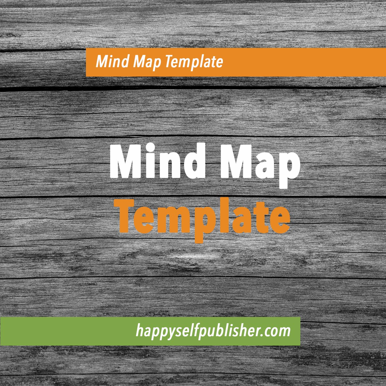 Mind map template for writing a book