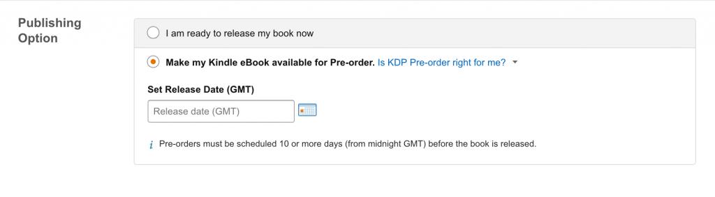 Kindle Pre-order